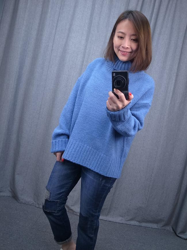 柔軟高領溫暖毛衣