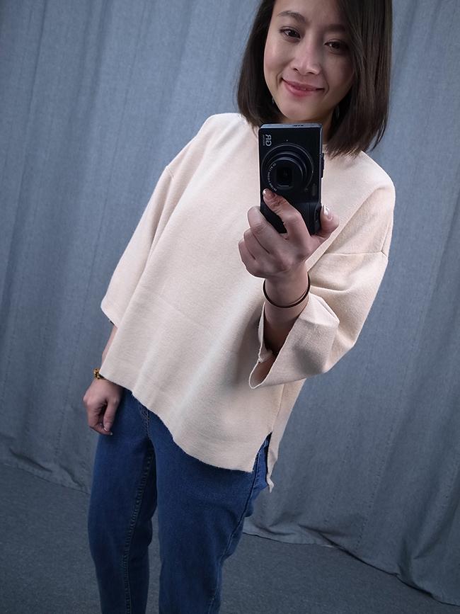 【kiki自留款】氣質寬袖針織衫