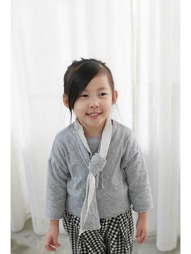 雙層棉舒適上衣(附圍巾)