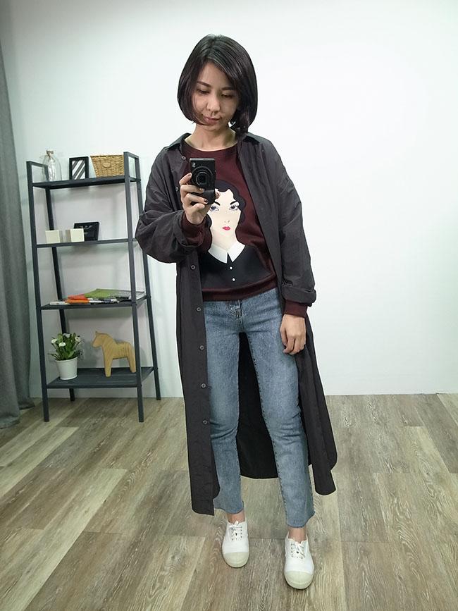 韓系襯衫版風衣