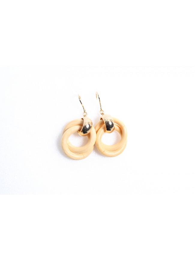 木質圓圈造型耳環