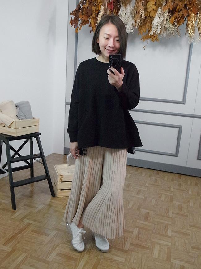 坑條類褲裙針織褲