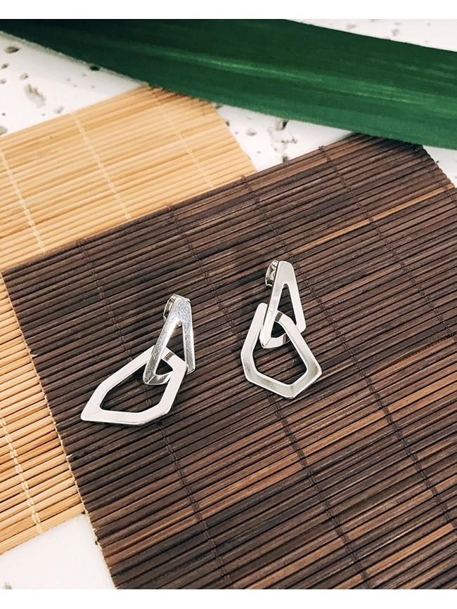 幾何造型垂墜耳環
