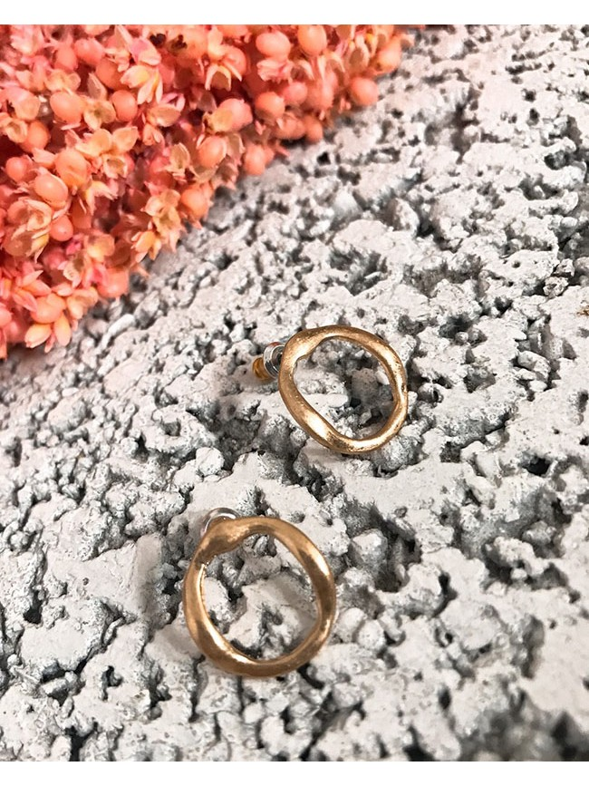 不規則圓形耳環