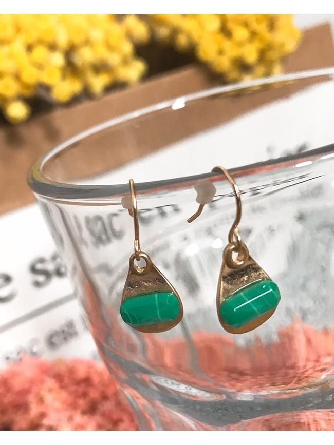 水滴祖母綠耳環