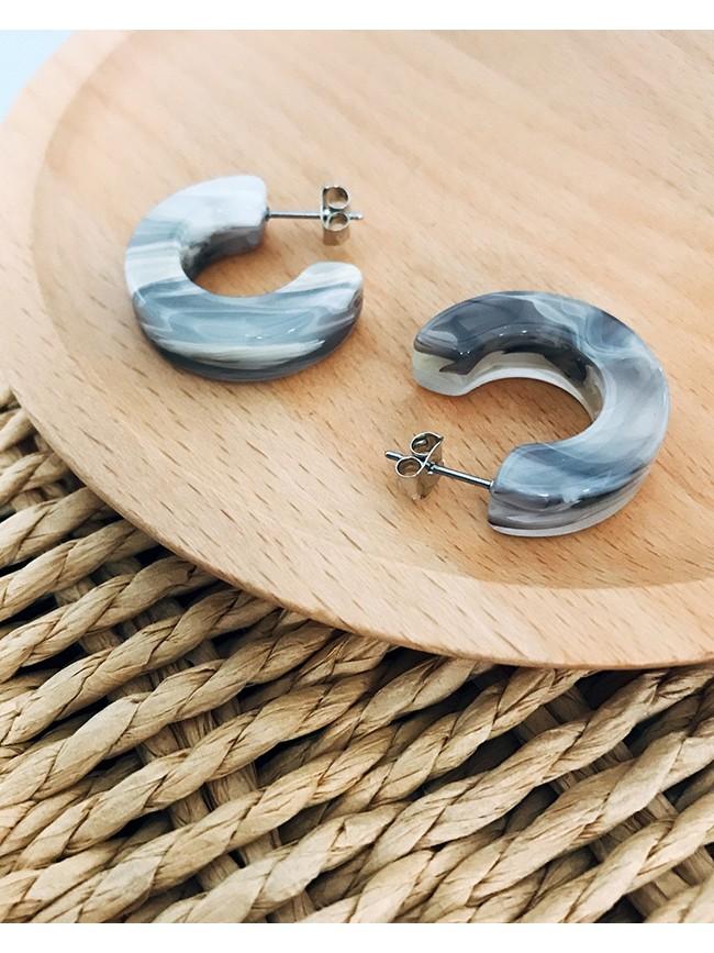 壓克力圓弧造型耳環