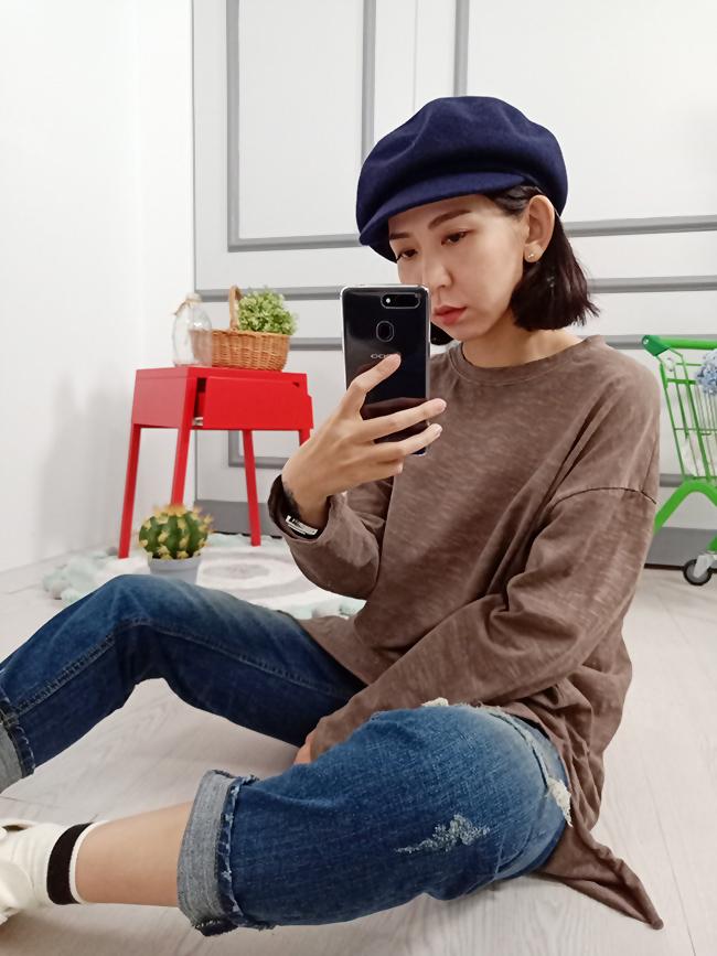 氣質羊毛報童帽