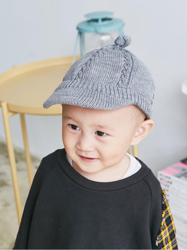 帥氣針織棒球帽