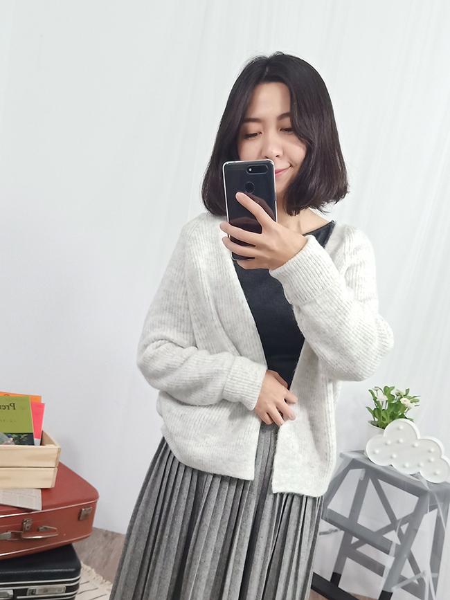 軟綿綿針織罩衫