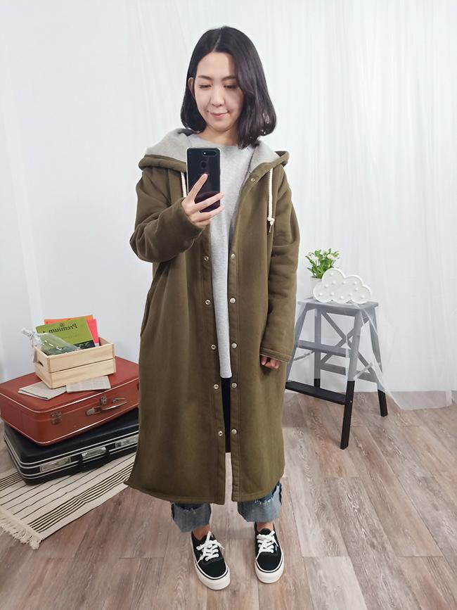 溫暖又柔軟長版外套