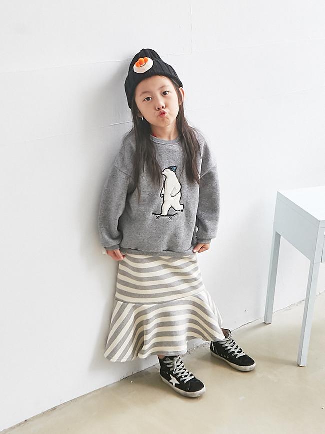 條紋魚尾裙