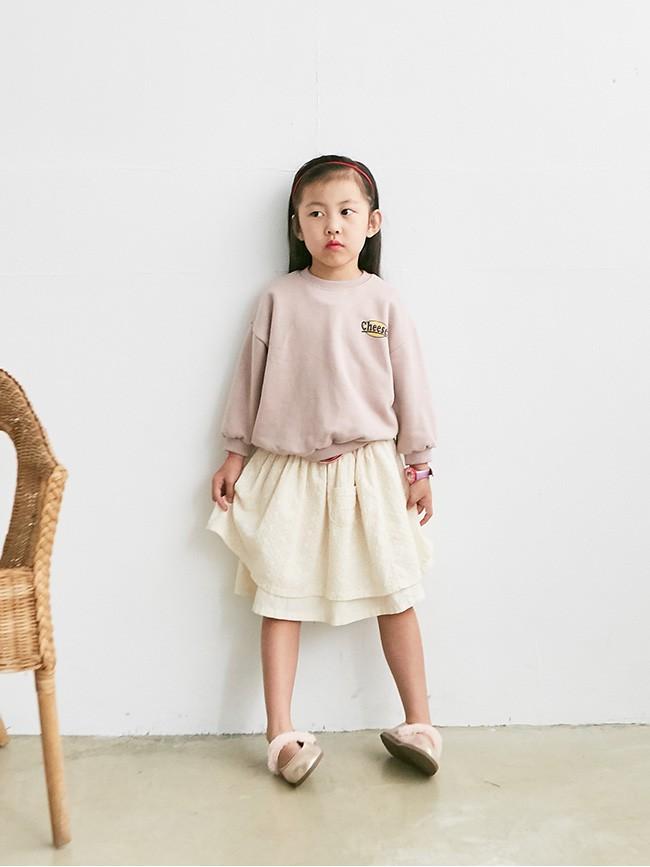 少女刺繡雙層裙