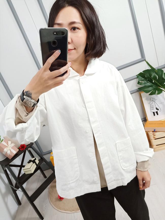 簡潔挺版罩衫