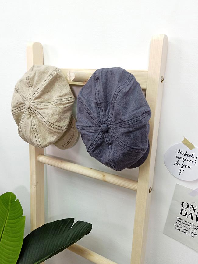 棉麻報童帽