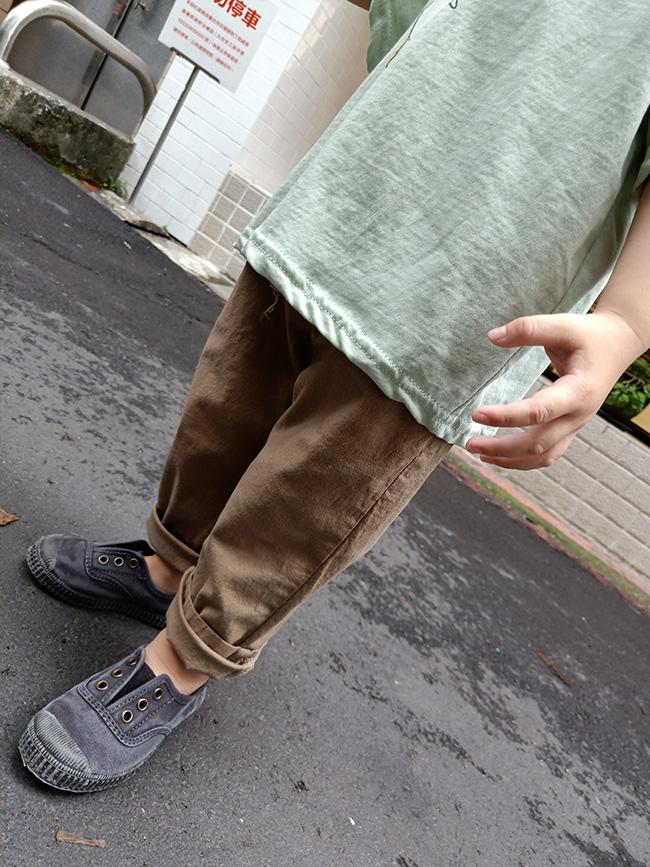 薄料綁帶休閒褲