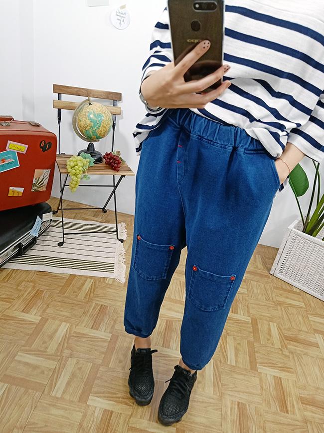 雙口袋造型飛鼠褲