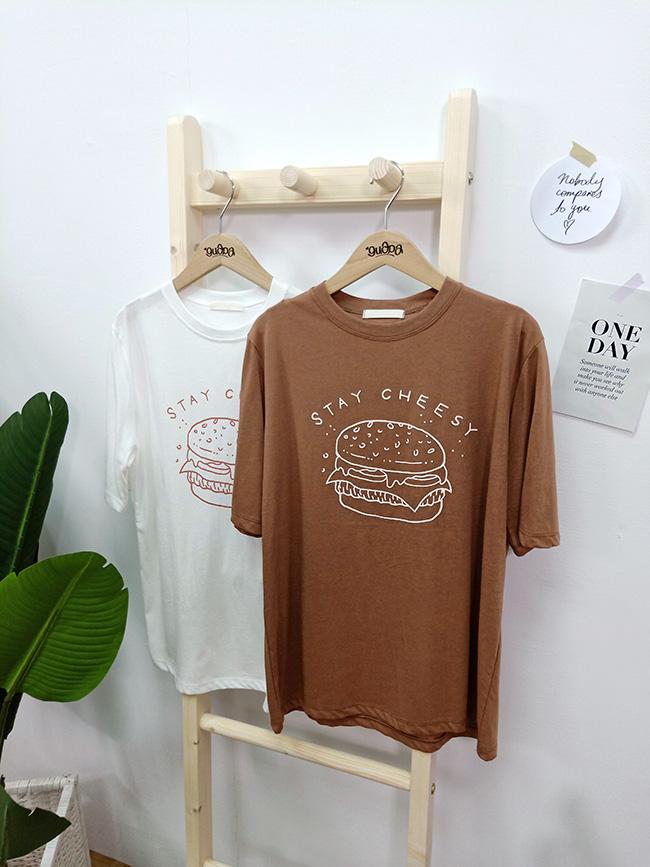 漢堡堡印刷T