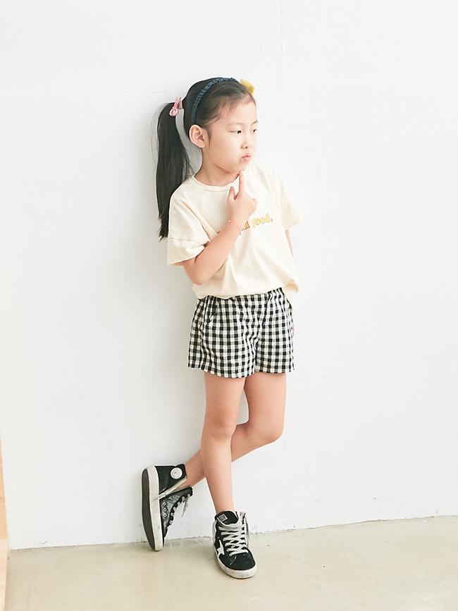可愛格子短褲