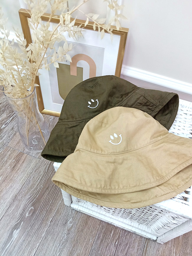 微笑造型漁夫帽