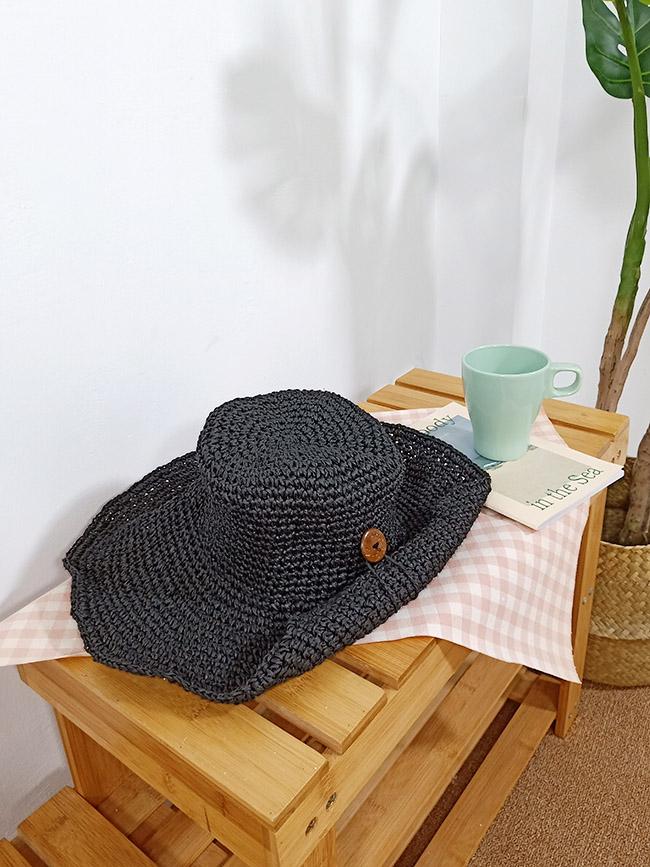 鈕釦編織草帽