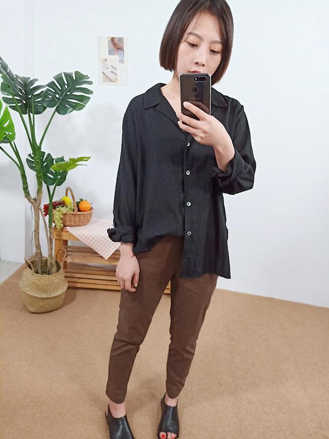 開襟排釦防曬襯衫