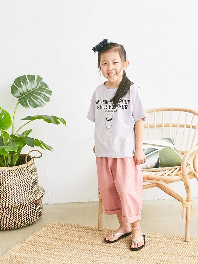 粉嫩色系棉麻褲