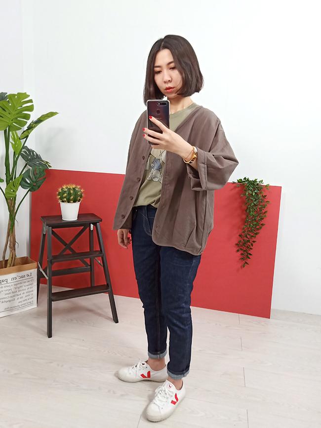 日系打褶棉麻罩衫
