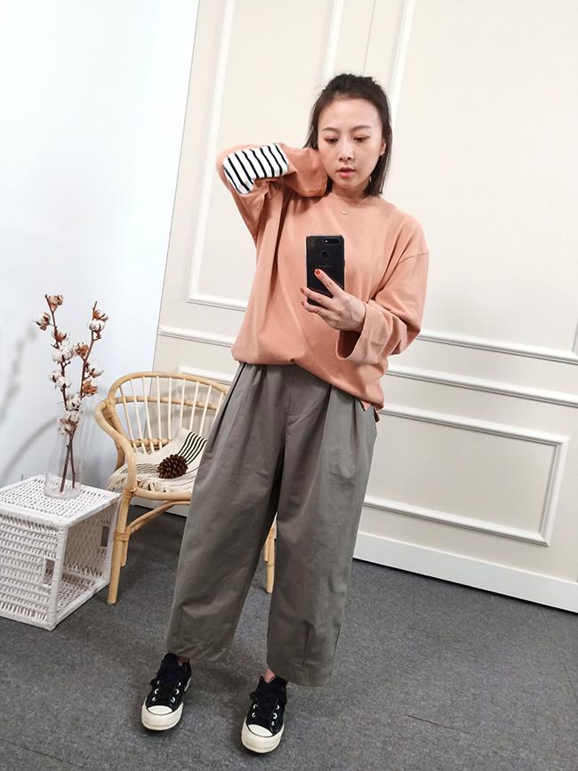 日系可愛寬褲