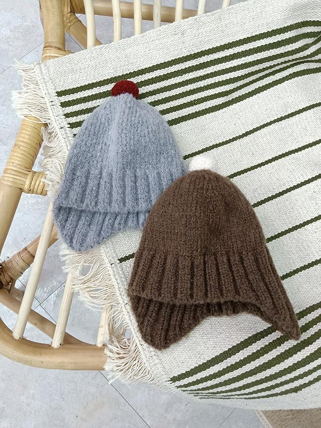小毛球彈力針織毛帽