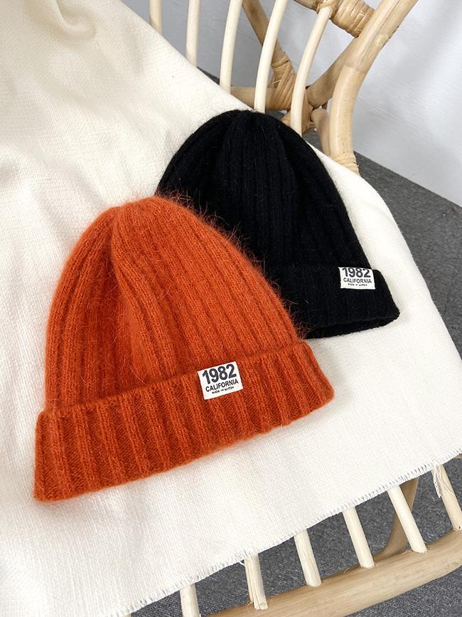 個性好搭亮色毛帽
