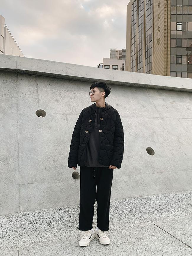 復古釦舖棉外套