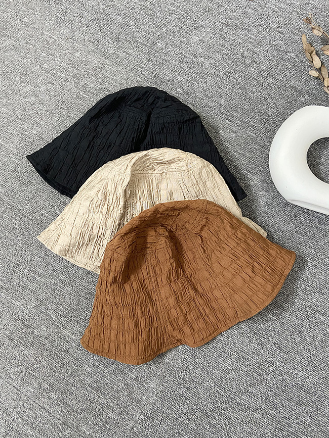 皺皺小花苞帽