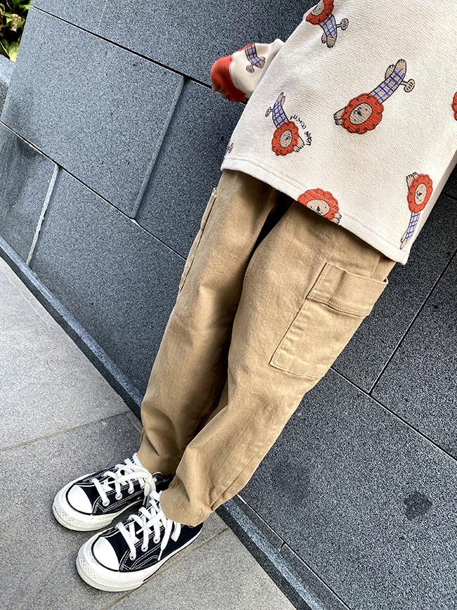 多口袋工作褲