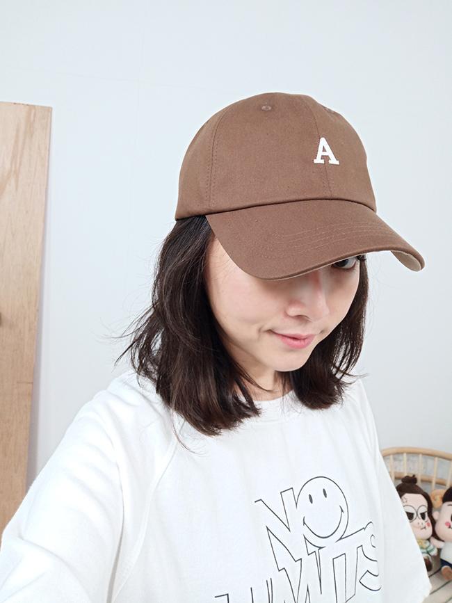 大地色A字棒球帽