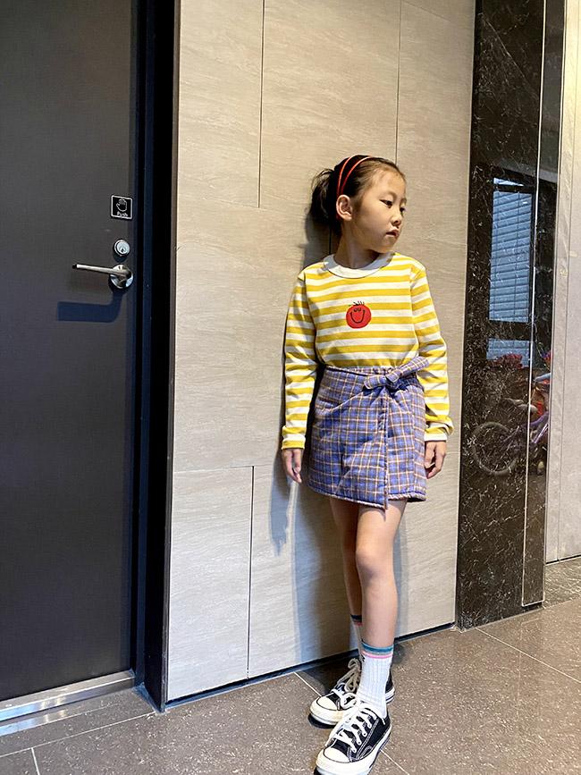 可愛藍莓格紋褲裙