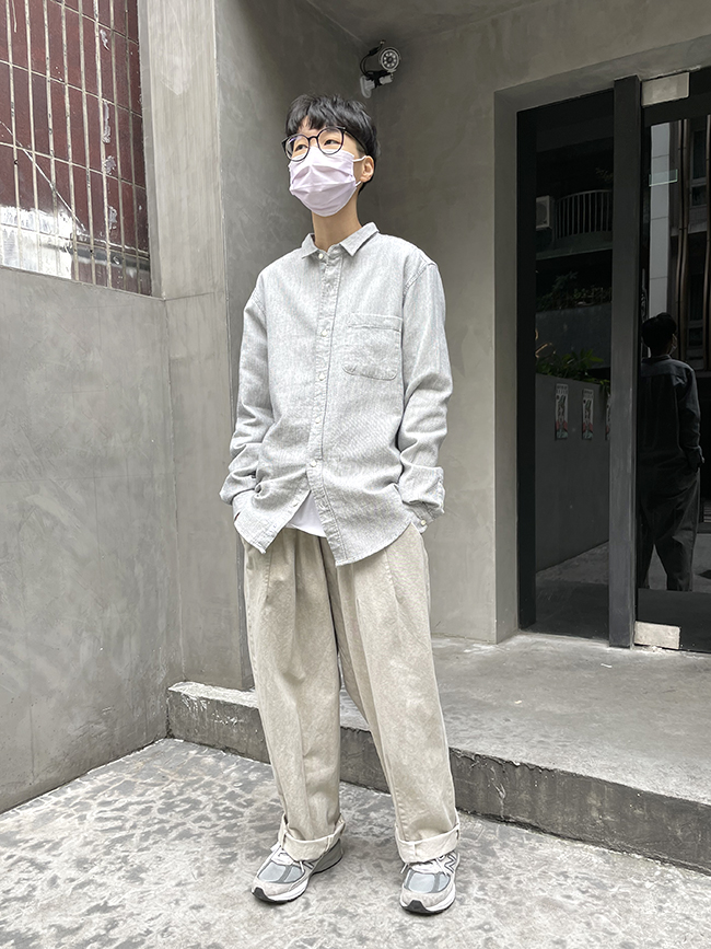 文青感純棉襯衫