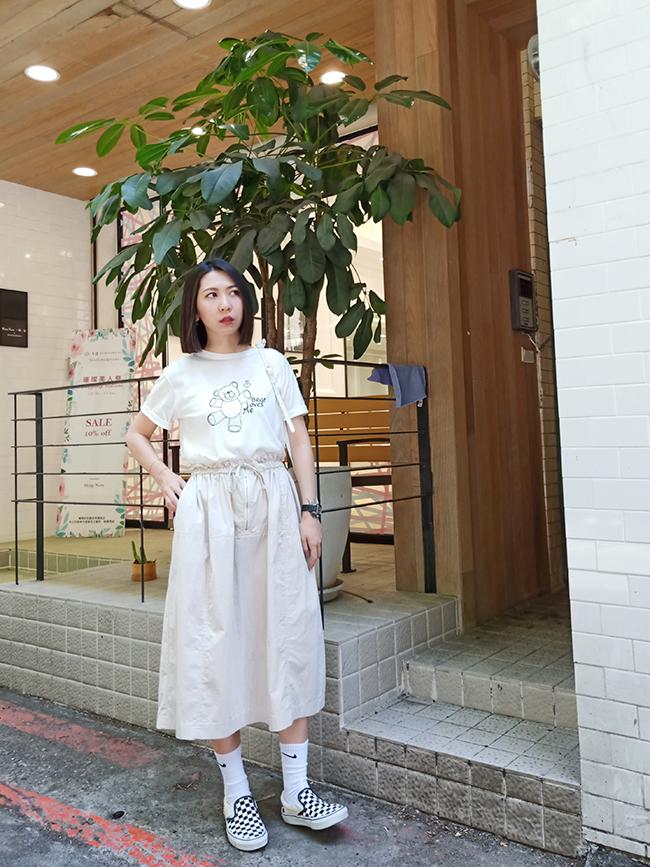 小花苞造型半身裙
