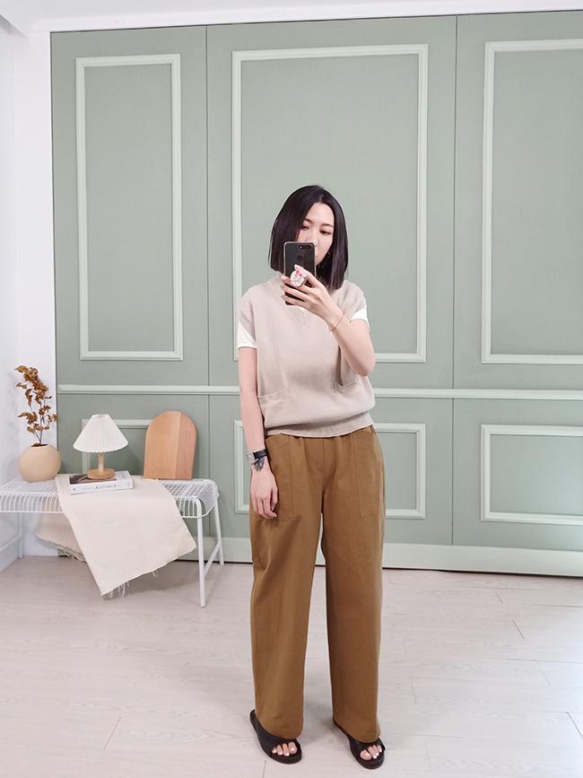 |guapa|大口袋休閒寬褲