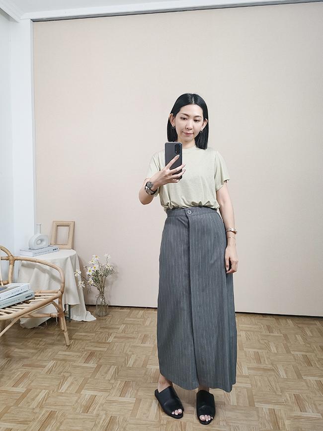 正式直條紋西裝裙