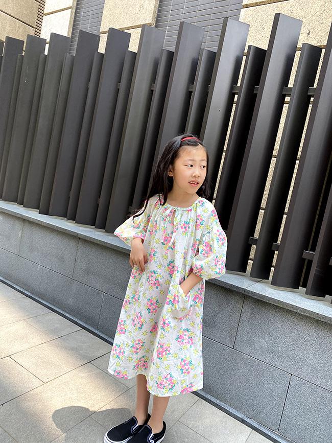 夏日風情澎袖洋裝