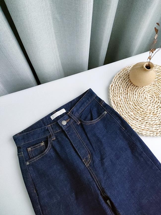 深色顯瘦直筒褲