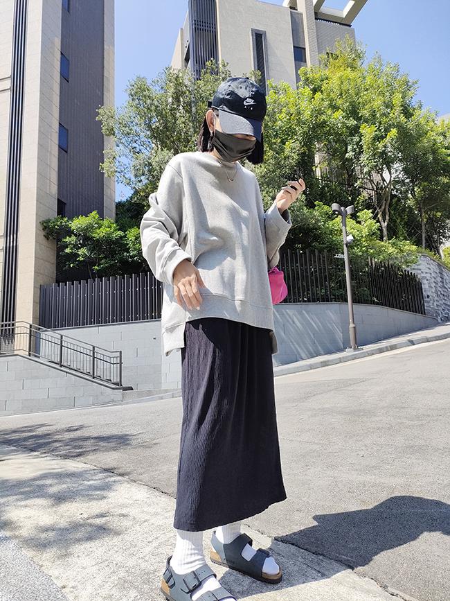  guapa 立體皺褶彈性長裙