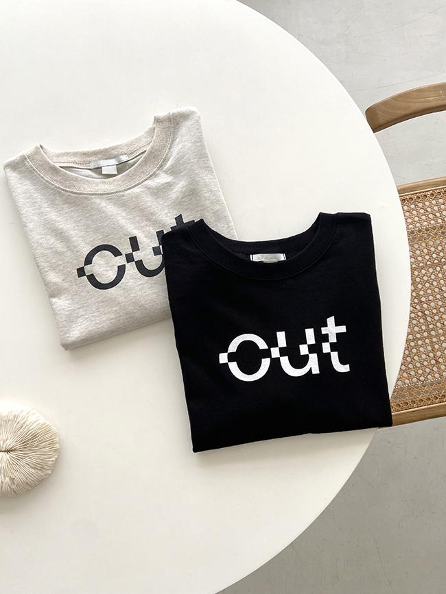 OUT印刷英文字母T